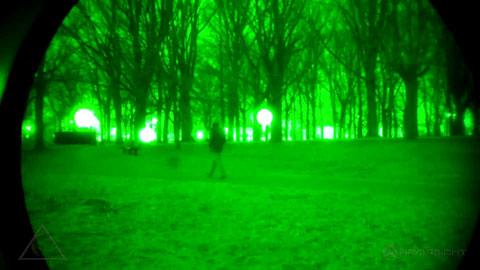 Vision nocturne Images vert