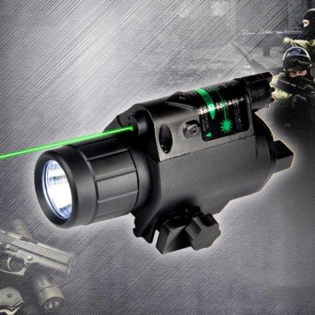 JGSD Combo 5mW laser vert et LED lampe