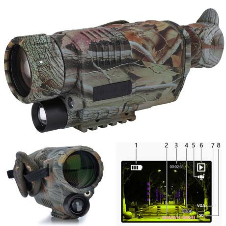5x40 Monoculaire numérique de vision nocturne camouflage