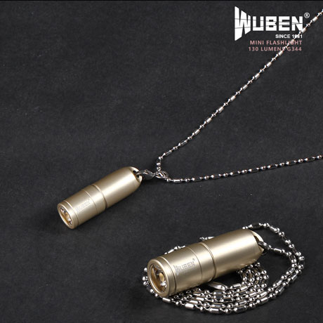 WUBEN G344 130 Lumens mini lampe de poche collier or