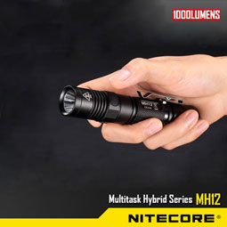 NITECORE MH12 1000 Lumens lampe torche USB rechargeable