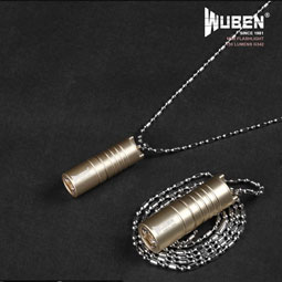 WUBEN G342 130 Lumens mini lampe torche collier or